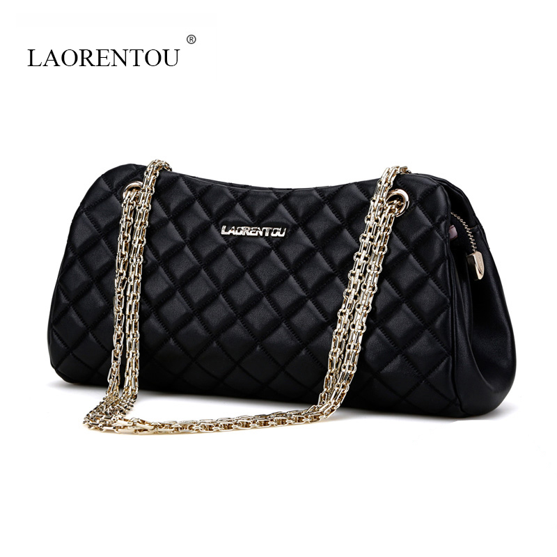 LAORENTOU women messenger bags new 2017 chain bag fashion Luxury shoulder bags ladies split leather handbag designer wristlets<br><br>Aliexpress