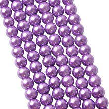 LNRRABC High-Quality 4 6 8 10MM Purple Round Glass Imitation Pearl Beads For Fashion Bracelets& Necklaces Making Accessories
