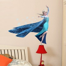 3D frozen snow girl  Aisha zooyoo removable vinyl wall sticker for kids room wholesale nursery bedroom PVC home decor
