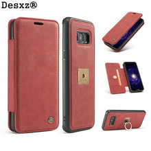 Buy Desxz Phone Case Samsung GalaxyS8 S8Plus Luxury Leather Phone Cases Stand Flip Card Magnetic Ring Stand galaxy s8 for $12.99 in AliExpress store