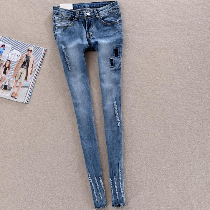 2017 Fashion women Denim Jeans Pencil Pants Women Skinny beggar  Jeans Casual plus size 26-31Одежда и ак�е��уары<br><br><br>Aliexpress