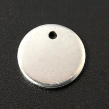 100pcs Flat Round 304 Stainless Steel Blank Stamping Tag Pendants about 8mm diameter, 0.6mm thick, hole: 1mm(China)
