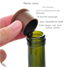 free shipping Silicone Wine Bottle Stoppers Approved Food Grade Silicone Durable Flexible Wine Bottle Stopper 10pcs/lot(China)