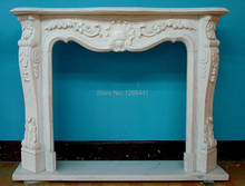 stone fireplace surround marble mantel custom made living room decor(China)
