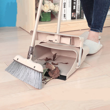 Duo-Pan Dustpan & Lobby Broom Combo, 3 Foot Overall Height, blue (81*31CM)(China)