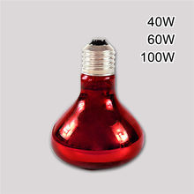 NEW Heat Basking Lamp 40W 60W 100W Spotlight Bulb Lamp Heating Light For Reptile Pet AC220V Red Glass
