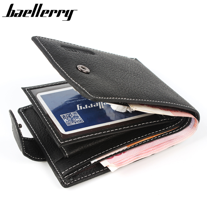 Baellerry New 2017 Leather Men Wallets 100% Genuine Leather Wallets For Men Short Coin Purse With Pocket Male Card Holder<br><br>Aliexpress
