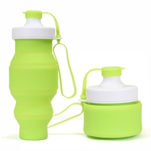 BPA Free Silicone Foldable Bottle Collapsible Water Bottle With Lid for Camping Hiking Picnic Travel Bottle Outdoor Portable Jug