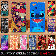 For SONY Ericsson SPERIA M C1905 C1904 C2005 C2005 Case Hard Plastic Cellphone Mask Case Protective Cover Housing Skin Mask(China)