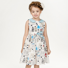 Baby Girls Dress 2016 New Brand Princess Summer Dress for Girls Clothes Graffiti Pattern Designer Kids Dresses Children Clothing