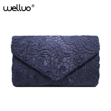 Buy Women Envelope Lace Evening Clutch Bag Day Clutches Bridal Wedding Dresses Clutch Purse Handbags Chain Shoulder Pouch XA82B for $10.84 in AliExpress store