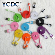YCDC Cheap Original One Data Cable 100CM Red Flat noodles Micro Usb Charge Charger Cable For One Plus 1 X Mobile Phones