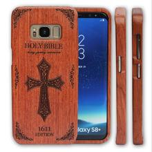 2017 Update Pattern Original Cellphone Engraved Bamboo Wood Case Combo Cover For Samsung Galaxy S8/S8+ Plus+free Gift(China)
