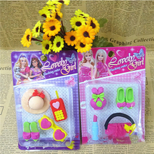 4PCS/Set Fashion Girls Rubber Erasers For Kids Stationery Eraser Lovely Kawaii Material Escolar Borrachas Office School Supplies