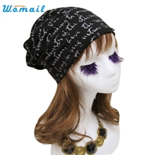 Womail Good Deal  New Fashion Winter Warm Women Men Letter Print Hip-Hop Beanie Hat Baggy Unisex Cap Skull Hat Gift 1PC