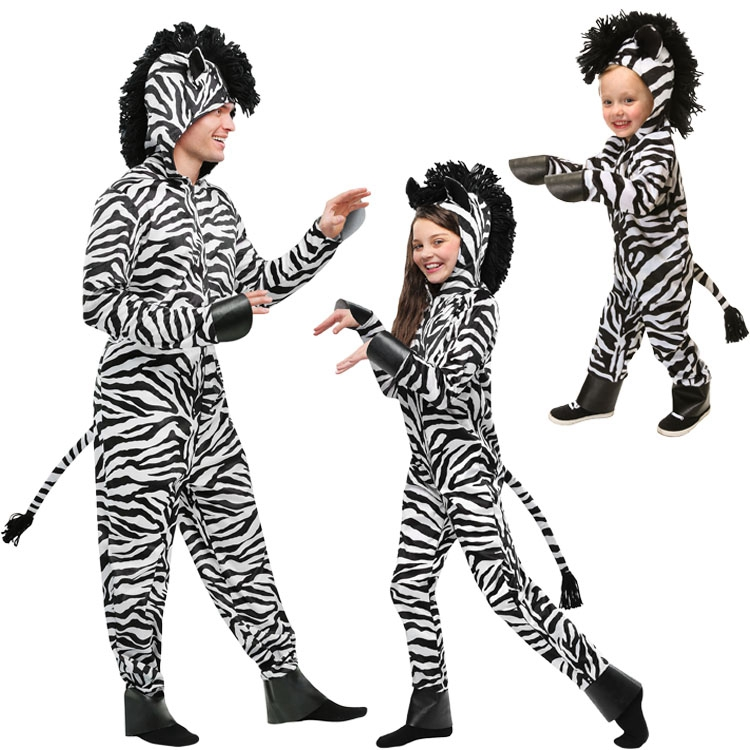 IREK New Cosplay Halloween wild zebra Costume Stage Performance African animal Party Costume Factory Direct High Quality