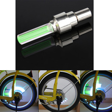 Bicycle Alarm Tyre Tire LED Wheel Valve Stem Cap Tire Motion Neon Light Lamp Car Bike Cycling Motorcycle Tire Wheel Green Light