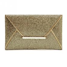 Women Bags luxury brand Evening Party Bag Envelope Gold Sequins Envelope Bag Purse Clutch Handbags Shiny Solid Ultrathin