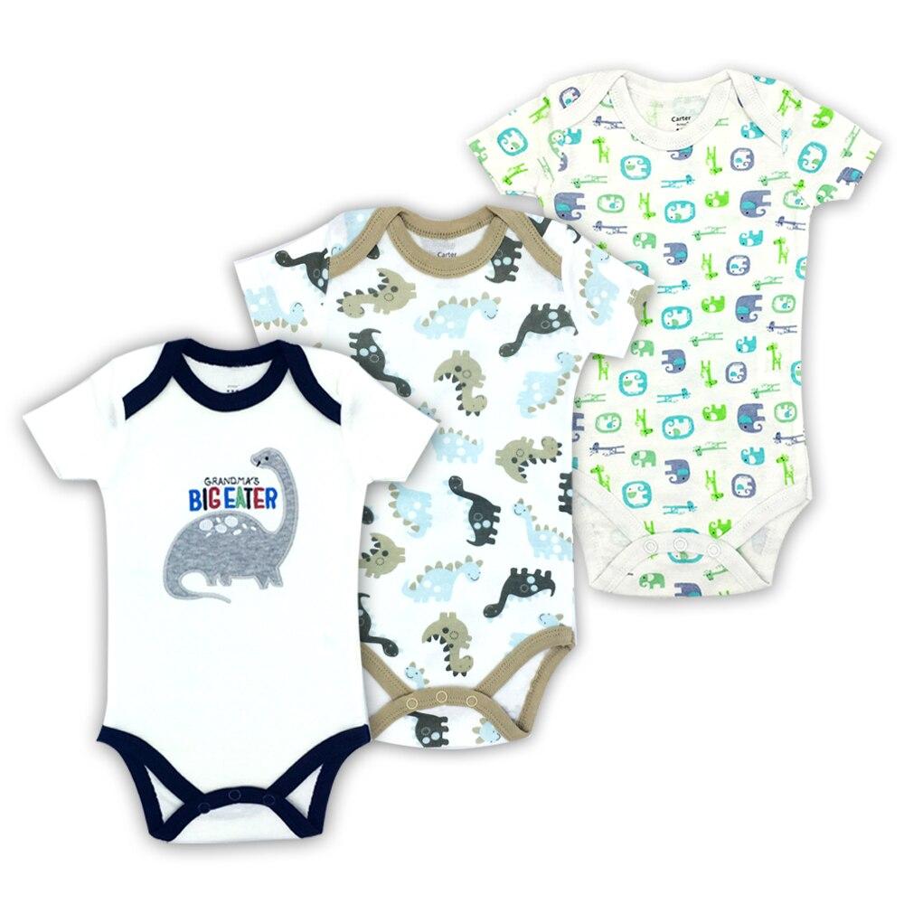 ROMPER BODYSUIT INFANT BABY KIDS BOY GIRL BODY JUMPSUIT CLOTHES GRAY 100/% COTTON