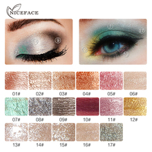 NICEFACE Pearl Eye Shadow liquid Cosmetic Make up Pressed Glitters Shiny Silkworms liquid Diamond For Eyes Makeup 17 colors