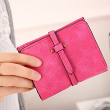New Women Short Wallets High Quality Scrub PU Leather Wallet Brand Soft Leather Simple Practical Coin Purse Card Holder Wallets