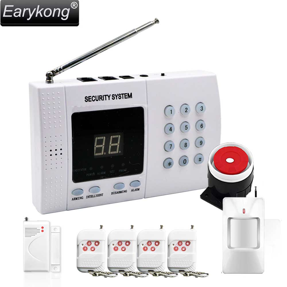 2017 New Selling Free Shipping High Quality Sales Promotion PSTN Telephone  Alarm System Home Security Door Window PIR Sensor<br>