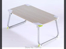Small table best for Laptop / bed/ coffee,Multifunctional Foldable Mini table,small computer desk Wooden color small table(China)