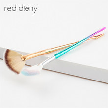 1Pcs Pretty Legs Slim Shaped Brush Professional Powder Foundation Makeup Cosmetic Powder Eyeshadow Makeup Mermaid Brushes(China)