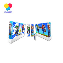 Mario Design Vinyl Decal Skin Stickers For Wii + 2pcs Controller Skins For Nintendo Wii Game Controller Accessories(China)