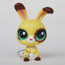 CW014 Pet Shop Animal Flower eyes rabbit doll action Figure(China)