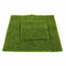 DIY Micro Landscape Decoration Artificial Grass Mat Plastic Synthetic Turf Lawn Mini Fairy Garden Ornament Fake Moss Home Decor(China)