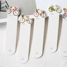 DOO COO 30PCs/Box Colorful Bike Paper Bookmark Card DIY Book Marks Message Cards Cute Stationery Office and School Supplies