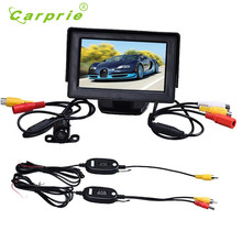 AUTO 4.3 Inch TFT LCD Monitor + Car Reverse Rearview Back Up Camera Parking Wireless Kits  june28