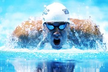 DIY frame Michael Phelps Swimming Legend Sports Poster Fabric Silk Poster Print Great Pictures On The Wall For Home Decoration