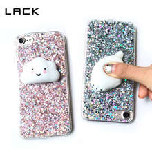 LACK Colorful Shining Phone Case For iphone 6 Case Glitter Bling Soft Cover For iphone 6 6s Plus 3D Squishy Squeeze Toys Coque