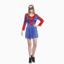 Disfraces Halloween Costumes For Woman Movie The Avengers Female Spider man Cosplay Carnival Christmas parade masked ball dress