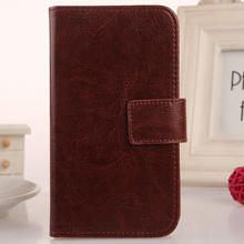 ABCTen Book-Style Flip Cell Phone PU Leather Case With Card Slot Cover For Medion Life E5006 MD 60227 5''