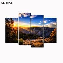 Wall Pictures for Living Room Canvas Art Nature Landscapes Sunset Canvas Painting Modular Pictures Home Decor Posters and Prints(China)