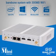 New Minipc Quad Core Mini PC Windows 7 Turbo boost 2.08GHz Intel N3150 Dual HDMI TV Box Micro Computer 300M WiFi Micro PC