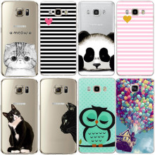 Cute Cat Design Coque For Samsung Galaxy S3 S4 S5 S6 S7 Edge S8 Plus Grand Prime J2 J5 J3 A3 A5 2015 2016 2017 Soft Silicon Case