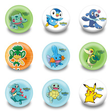 New Arrival 90pcs/lot Pokemon Pins Buttons Badges Round Badges fashion Bags parts accessories Party children Gifts