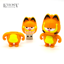 USB 2.0 Cartoon Easy Learning Garfield USB Flash Drive Pendrives 4GB 8GB 16GB USB Stick External Memory Storage Pen Drive