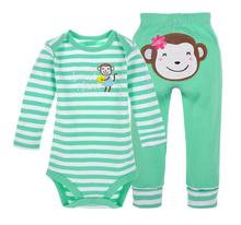 Foreign trade baby baby clothing triangle ha clothing suit infant clothing long sleeve baby clothing(China)