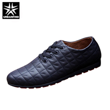 Buy URBANFIND Men Lace-up Casual Shoes Black / White / Blue EU Size 39-44 Brand Fashion Men Leather Footwear Spring / Autumn for $20.79 in AliExpress store