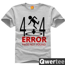 Portal 2 Original Design GLaDOS Chell Valve Wheatley 404 Error Print Vintage Style Casual T-shirt T shirt TEE Free Shipping(China)