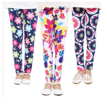 VEENIBEAR Fashion Spring Summer Girl Pants Flower Printing Girl Leggings Kids Children Pants Girl Clothes 2-13 Years