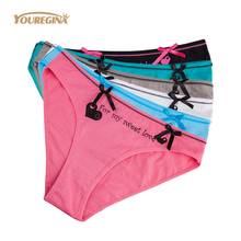 Buy YOUREGINA Women Underwear Ladies Seamless Cotton Panties Sexy Knickers Briefs Underpants Kawaii Culotte Female Lingerie 6pcs/lot