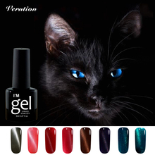 Verntion 3D Cat Eyes Cheap Nail Gel Polish Long Lasting Soak Off Professional 8ml Semi permanent Gel Varnish DIY LED Uv Nail Art