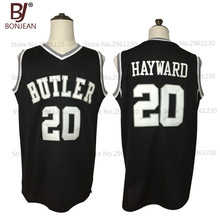 BONJEAN 2017 New Cheap Gordon Hayward 20 Butler Bulldogs College Throwback Basketball Jersey Black Stitched Retro Mens Shirts(China)