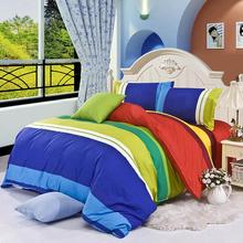 On Sale 4Pcs Bedding-set Cotton Bedding Set 1 Sheet 1 Duvet Cover 1 pillowcase Queen Size Bed Sets Linens No Comforter 443-1(China)
